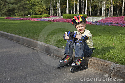 The boy on the roller blades