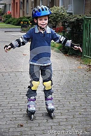 Boy with rollerblades