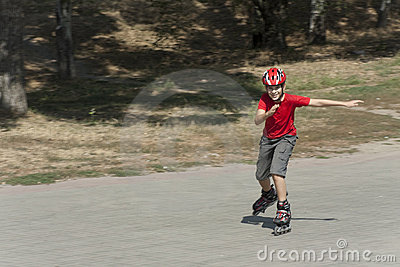 Boy on the rollerblades