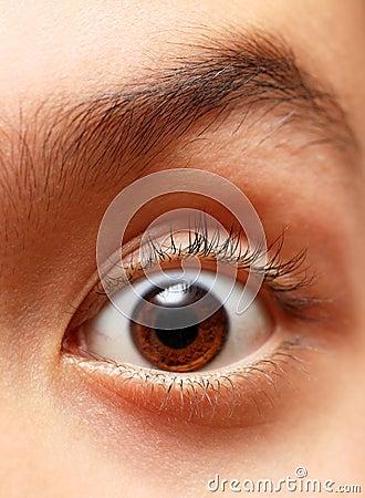 Boy s eye