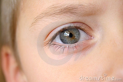 Boy s eye close-up
