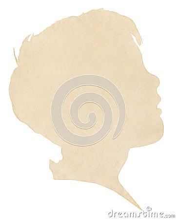 Boy s Paper Silhouette