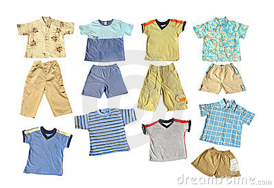 boys summer clothes stock photography image 5098592