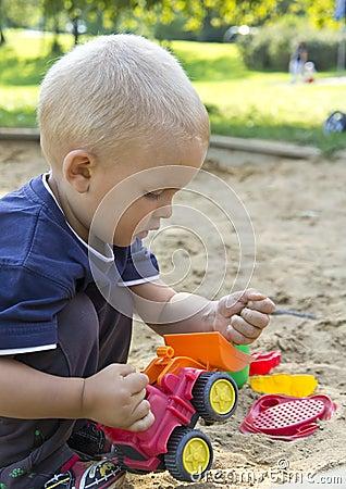 Boy on sand