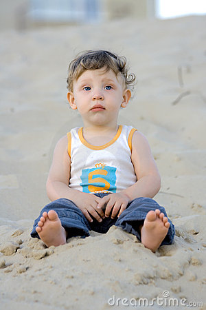 Boy on the sand