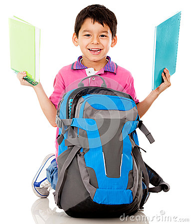 Boy with a school bag