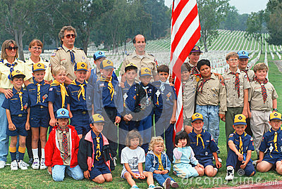 Boy Scout and Cub Scout troops Editorial Photography