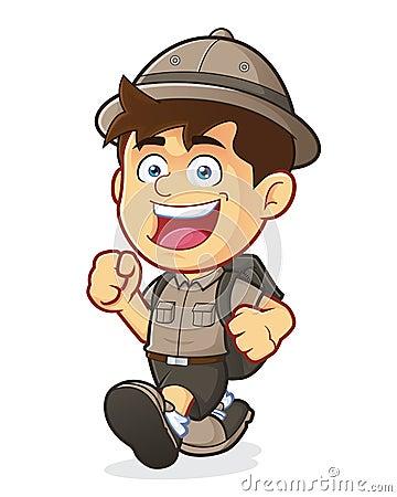 Free Boy Scout Or Explorer Boy Walking Royalty Free Stock Photo - 38960045