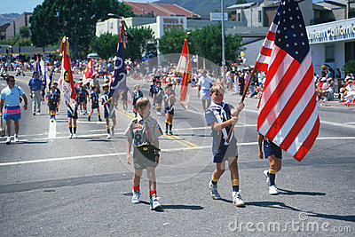 Boy scout troop color guard Editorial Image