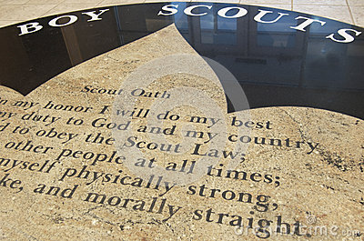 Boy Scouts Oath,  Morally Straight  Editorial Photography