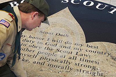 Boy Scouts Oath,  Morally Straight  Editorial Photo