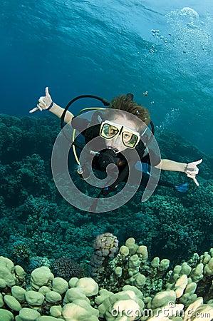Free Boy Scuba Diver Royalty Free Stock Image - 16274936