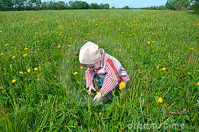Boy searches for bug