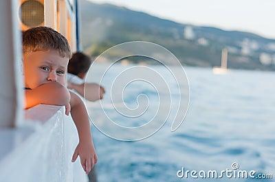 Boy on a ship