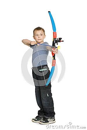 Free Boy Shooting A Bow Stock Photos - 19844333