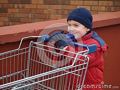 Boy shopping