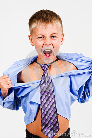 The Boy Shouted. Stock Photography - Image: 28000932