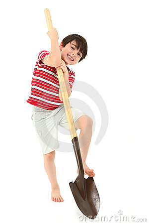 Boy with Shovel