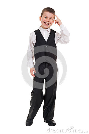Free Boy Showing Gesture To Think Royalty Free Stock Photo - 34454205