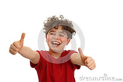 Boy showing OK sign