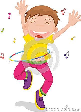 Free Boy Singing And Dancing Royalty Free Stock Photos - 8848038