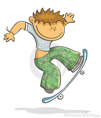 Boy with skate