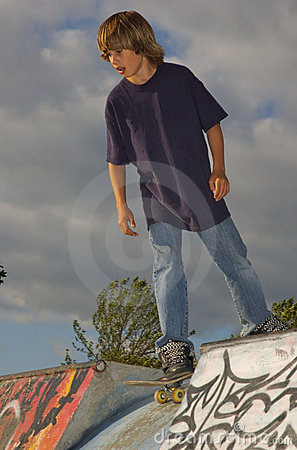 Boy at the Skate Park