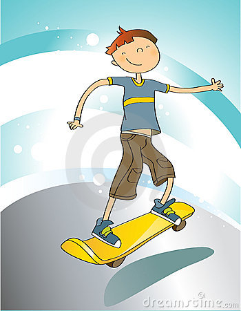 Boy With Skateboard Royalty Free Stock Images - Image: 9509359