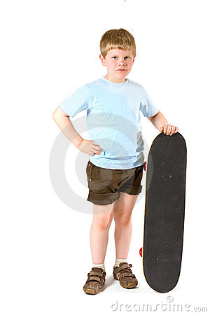 Boy with skateboard