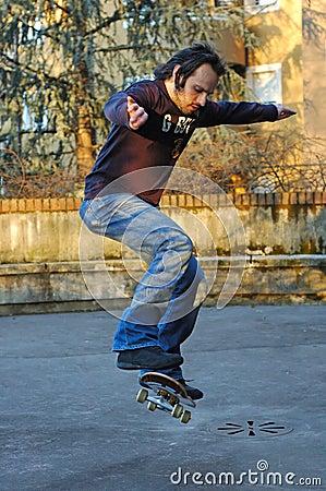 Boy skateboarding