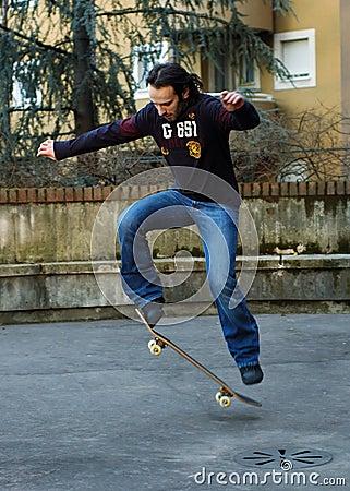 Boy skateboarding II