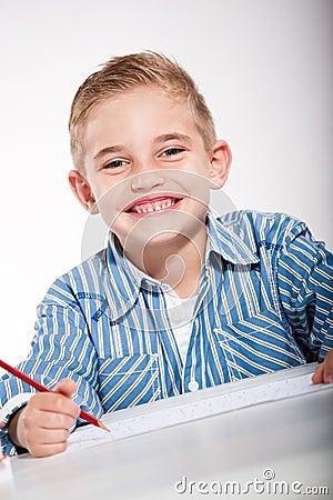 Boy with a sketch-pad