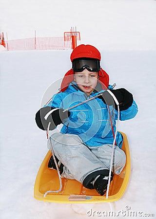 Boy in ski goggles