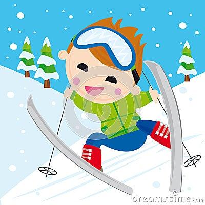 Free Boy Skiing Stock Photos - 7067123
