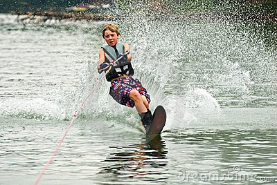 Boy Slalom Skier / Cutting