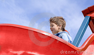 Boy on the slide