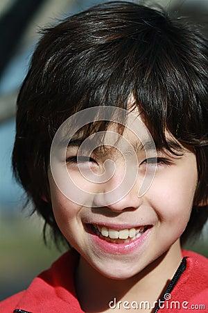 A Boy smiing