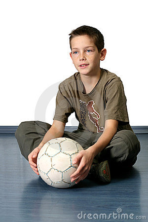 Boy With Soccer Ball 2