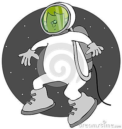 Boy on a space walk