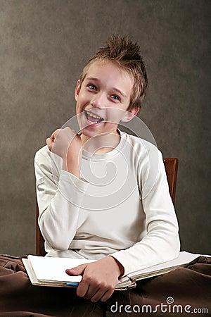 Boy with spiky hair