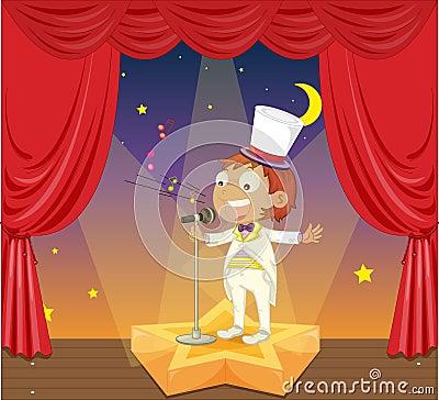Boy on stage