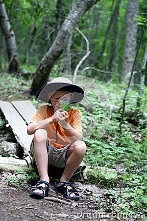 Free Boy Studying Nature Stock Photo - 6101690