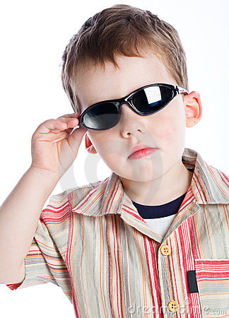A boy in the sunglasses