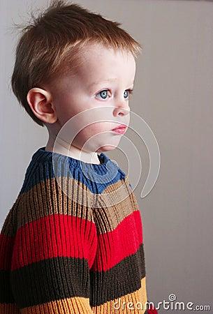 Boy in sweater