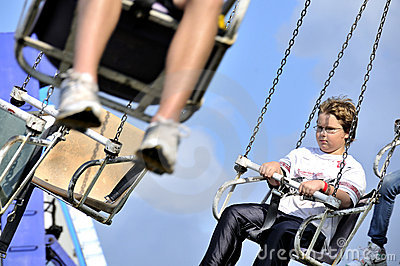 Boy on Swing Ride