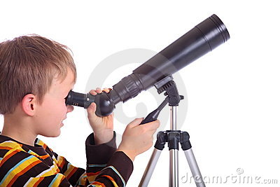 Boy with telescope