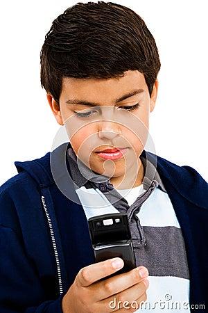 Boy Text Messaging