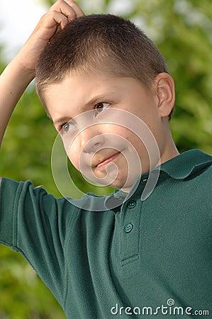 Free Boy Thinking Stock Photos - 864313