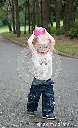 A boy throwing ball