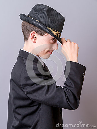 Boy Tipping Hat